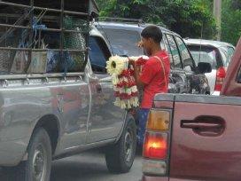 Bangkok - prodej na křižovatkách