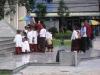 Školní výprava u pomníku tří králů, Chiang Mai