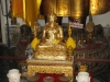 Socha Buddhy polepená zlatými lístky, Wat Pho